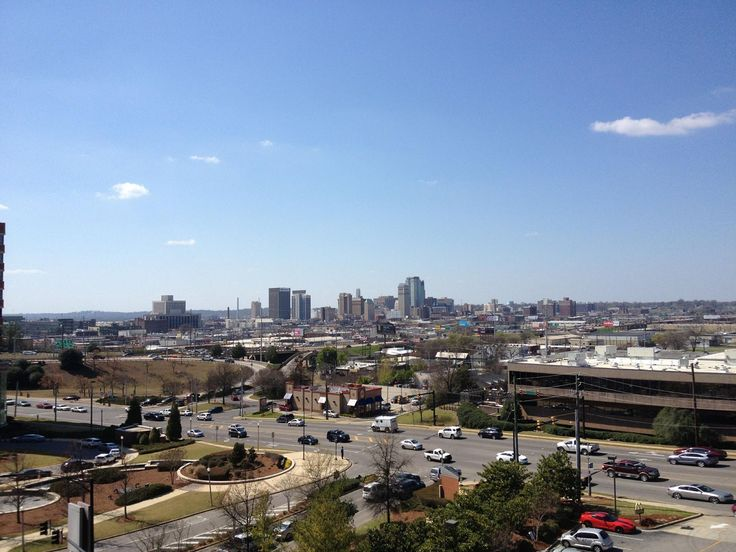 View of Birmingham from St Vincent Hospital's downtown location