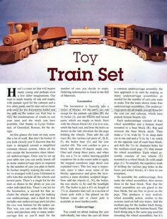 #1641 Wooden Toy Train Plans - Children's Wooden Toy Plans and Projects