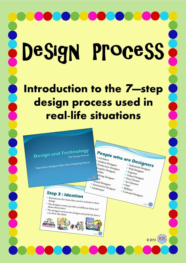 Classroom Design Process ~ Step design process used to by designers introduce