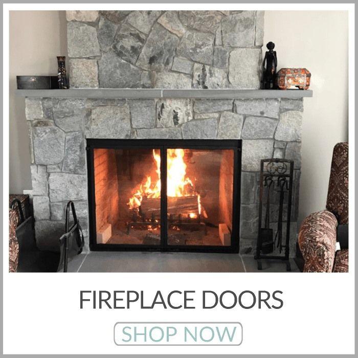 Shop Fireplace Doors Brick Anew Fireplace Glass Doors Glass