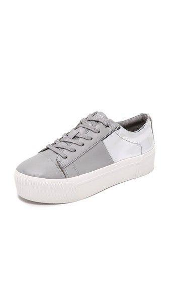 DKNY Bari Platform Lace Up Sneakers