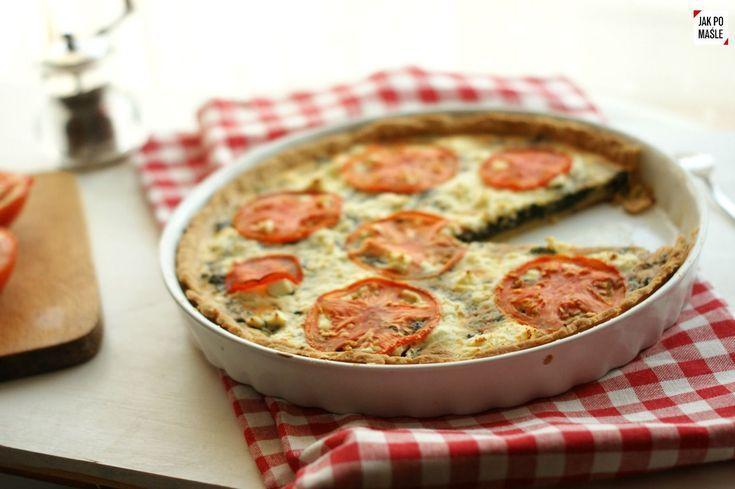 tarta ze szpinakiem feta i pomidorami