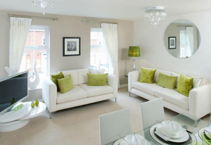Barratt homes goodwin park kidderminster lounge dining for Lime green dining room ideas