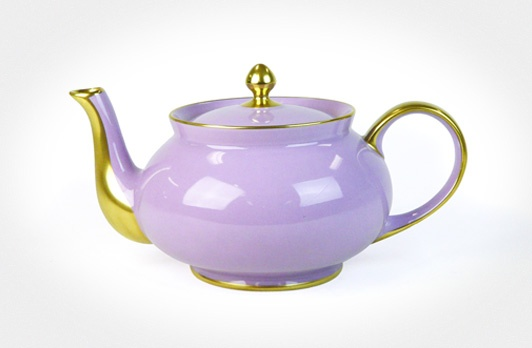 Limoges Teapot Large Lilac (Gold Edged)