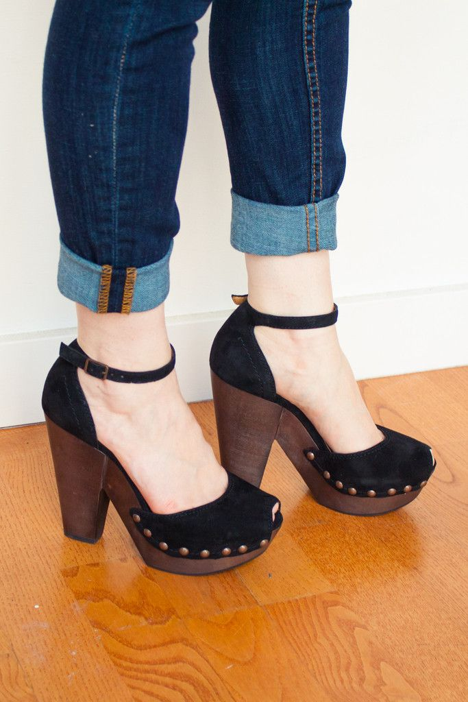 We LOVE these heels. So unique and retro yet totally modern at the same time. $139 (they're on sale!!)
