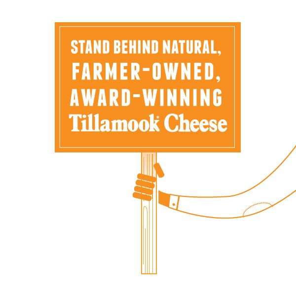 Who wants to take a stand for real, Natural Tillamook Cheese? Say yes to yum! *really cute graphic wins you over to natural cheese, even though i'm already convinced processed cheese product is of the devil*