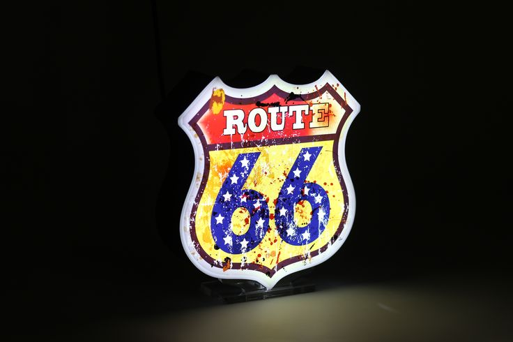 ROUTE 66 @ ADVENTURE Collection, Illuminated Marquee Lighting, a product ready in a luxury packaging, perfect for gift