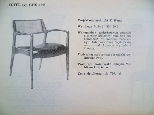 1 fotel projekt E. HOMA Duplikat-1 - Sklep internetowy RESET