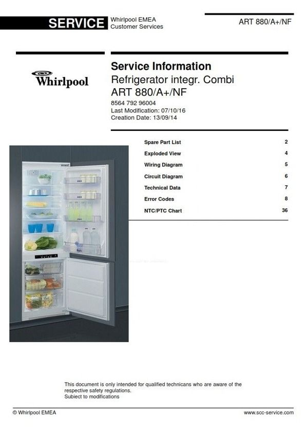refrigerator wiring diagram whirlpool australian ceiling light art 880 a nf service manual this is the exact same which used by all technicians and repair shops contents spare part list exploded view