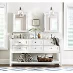 Home Decorators Collection Austell 67 in. Double Vanity in White with Marble Vanity Top in White with White Basin 1939200410 at The Home Depot - Mobile