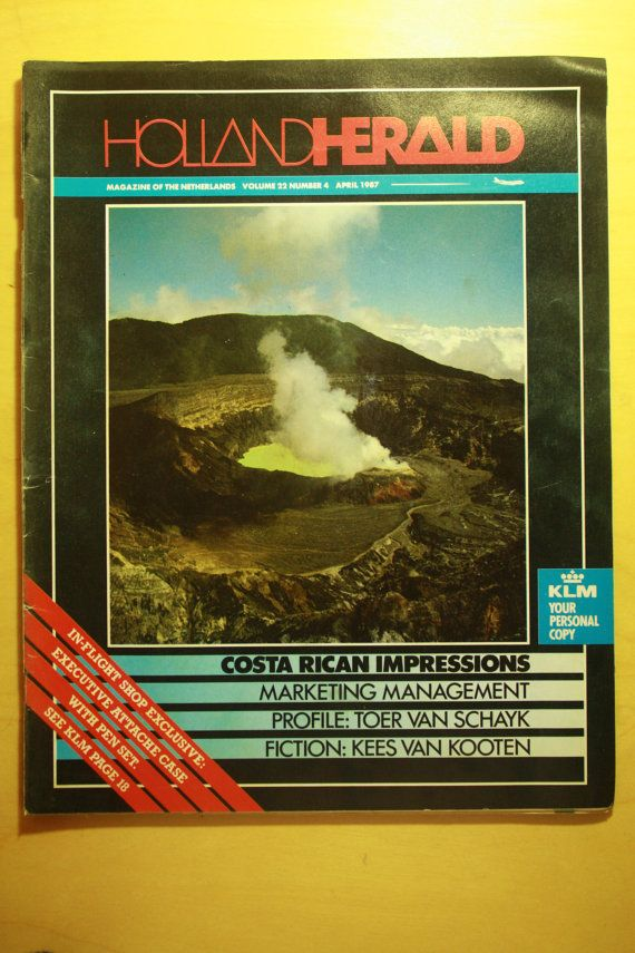 Check out this item in my Etsy shop https://www.etsy.com/listing/287418573/klm-inflight-magazine-1987