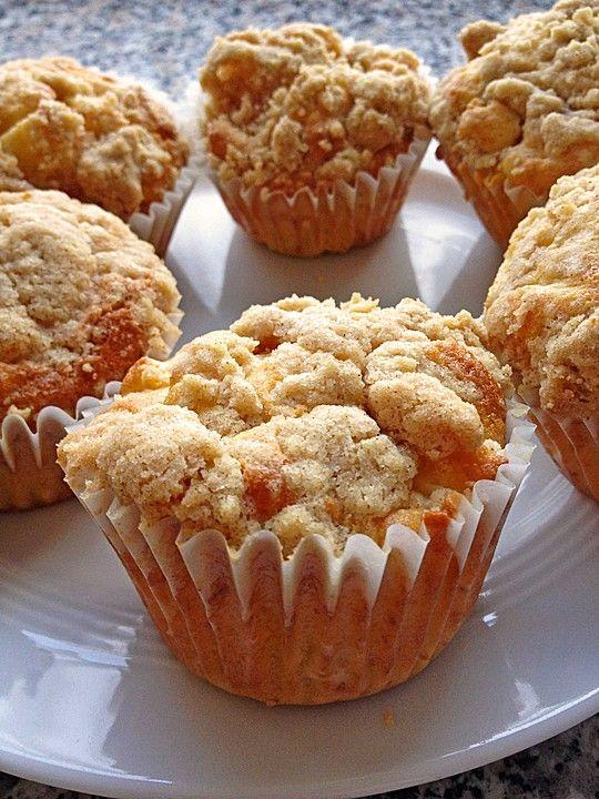 Leckere Apfel - Streusel - Muffins, ein sehr schönes Rezept aus der Kategorie K...