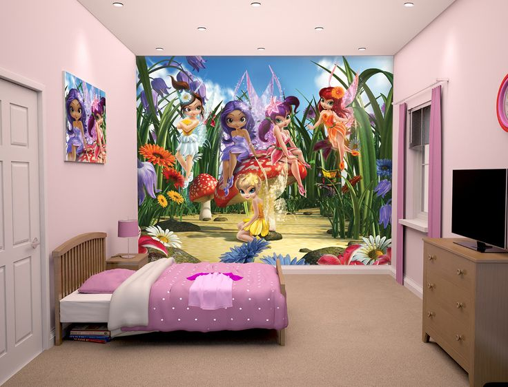 Magical Fairies Wallpaper Mural. #Fairies #Magical #GirlsRooms #ChildrensDecor #Wallpaper #Mural