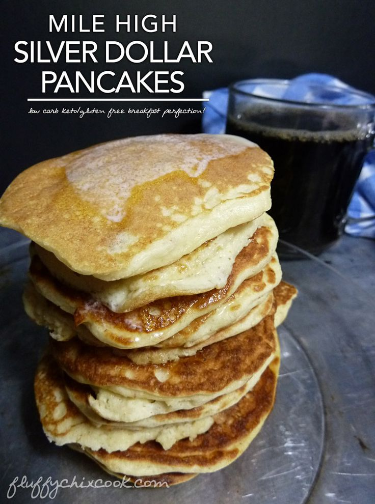 Mile High Silver Dollar Pancakes from Fluffy Chix Cook take deprivation out of low carb keto breakfasts!