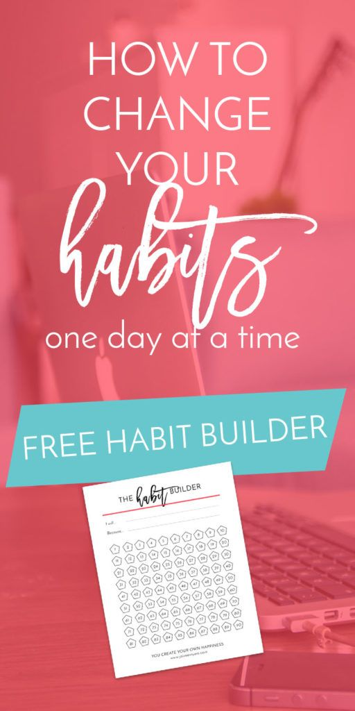 How to Change Your Habits One Day at a Time | Creative business owners and women who work from home often struggle with finding routine, but with daily habits, you can find that sense of structure again in your days. Use this free Habit Builder worksheet to get on track with adopting healthy and positive habits. Click through to grab it now!