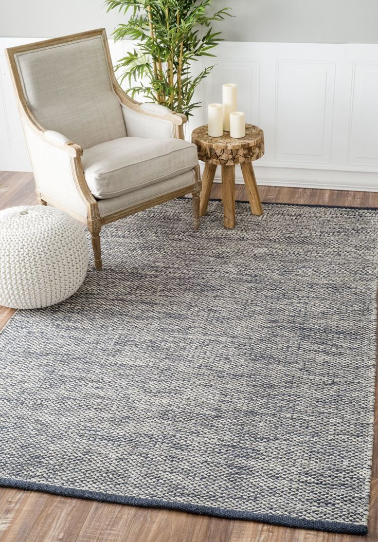 Rugs USA Nome Hand Woven Cotton Casual Solid RUG