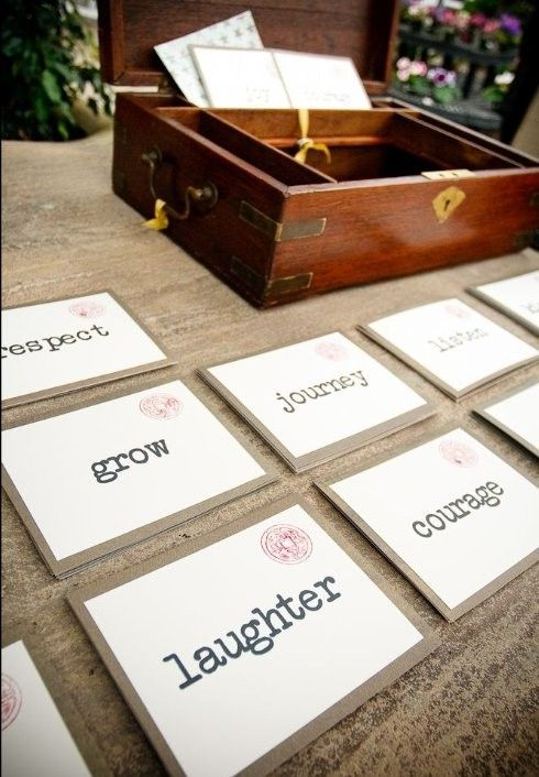 Guest Book Alternative  Have Guests Use The Word To Write You A Piece Of  Advice