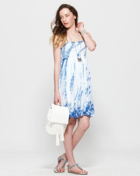 Enid Tie Dye Dress   | Pavement United Brands  #dress #blue #tiedye #trend #girls #fashion #summer