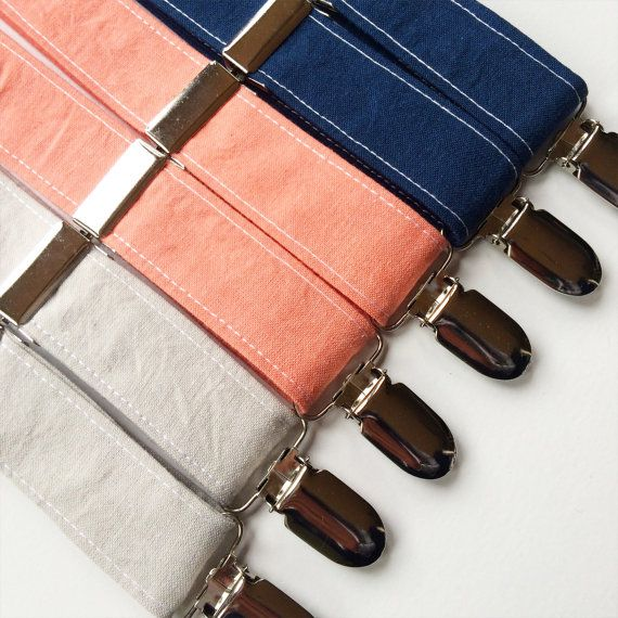 Little and Big Guy SUSPENDERS  Spring Solids  by petitepeanut
