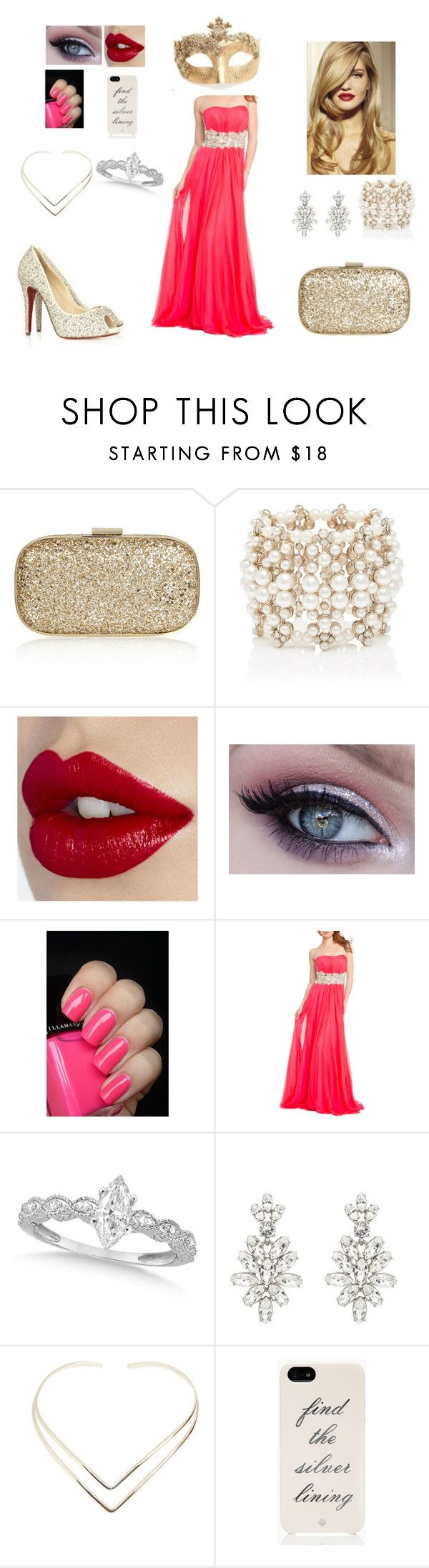 """Vestido da Ashiley para o baile.."" by jade-vieira ❤ liked on Polyvore featuring beauty, Anya Hindmarch, Forever New, La Femme, Allurez, Oscar de la Renta, Natalie B and Kate Spade"