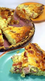 Inspired By eRecipeCards: BACON CHEESECAKE PIE (Shhh... It's a Quiche Lorraine) - 52 Church PotLuck Dishes