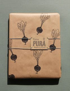 Inpakken met kraft papier & handgemaakte stempels