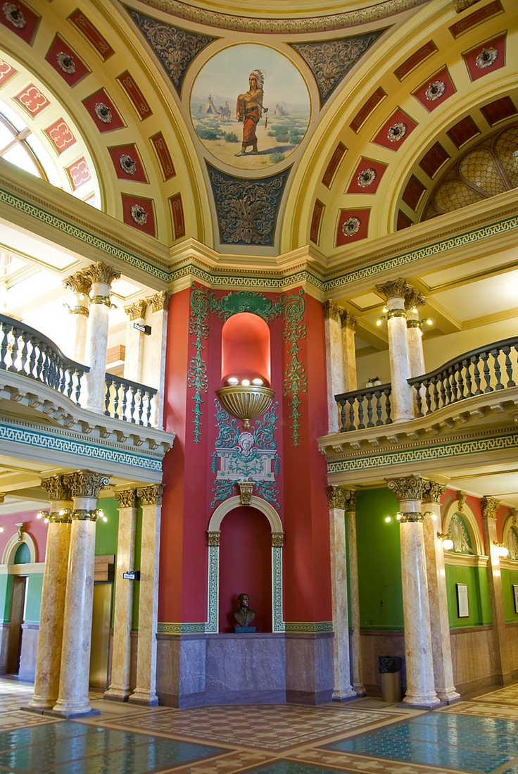 Helena Montana |Inside the Montana State Capitol Building artistic treasures await. Take a tour it is fascinating what you will discover.
