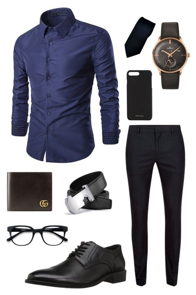 """Middle Formal Man Outfit"" by creative-esprecielo on Polyvore featuring Topman, Concord, Longines, Gucci, Prada, EyeBuyDirect.com, men's fashion and menswear"