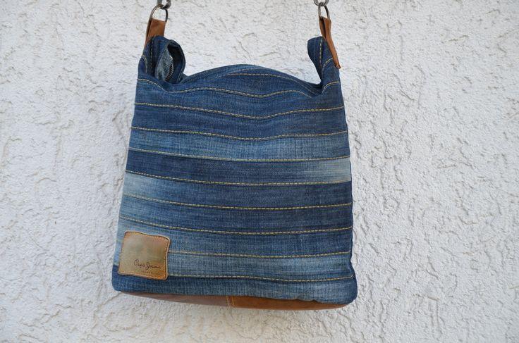 Chobe upcycling bag. sewing pattern available at ellepuls.com