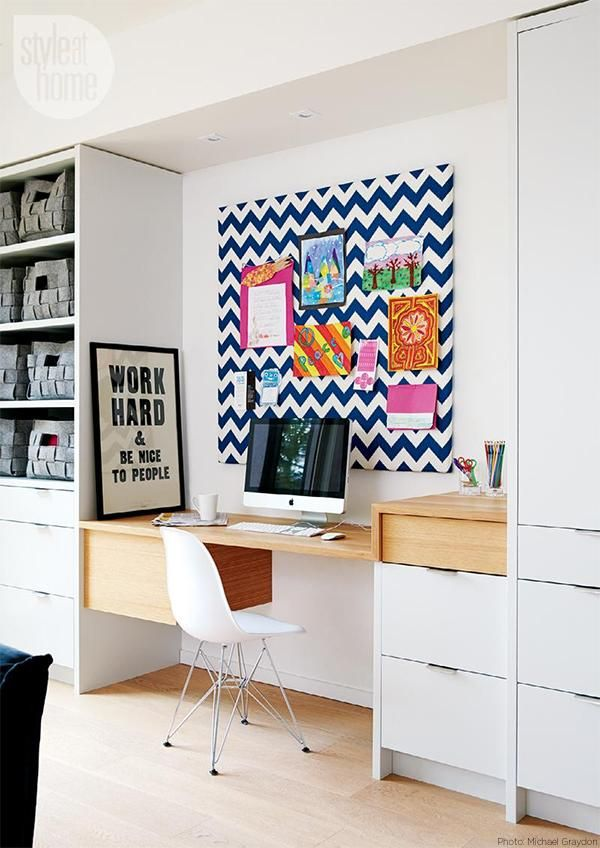 Home Office Details | Ideas for #homeoffice | Interior Design | Decoration | Organization | Architecture | Desk | Beautiful Home Offices | Bright Bold and Beautiful | Home office decor ideas.