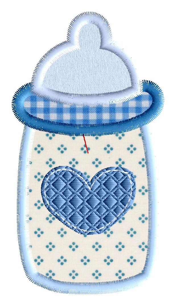 Baby Bottle Embroidery Applique Design.  Available for purchase soon at http://www.appliquedownload.com.