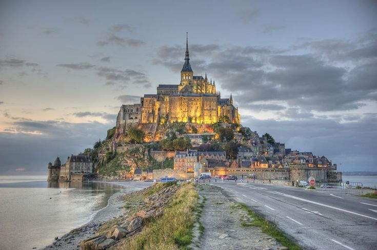 The approach to Mont St. Michel.