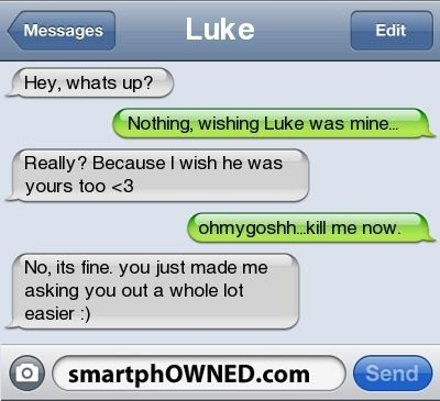 Dating by text message
