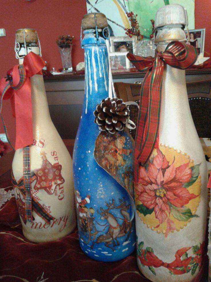 Χριστουγεννιάτικα μπουκάλια