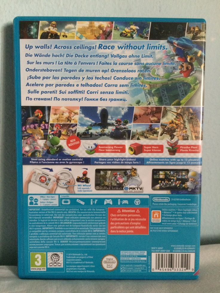 Mario Kart 8 game behind.