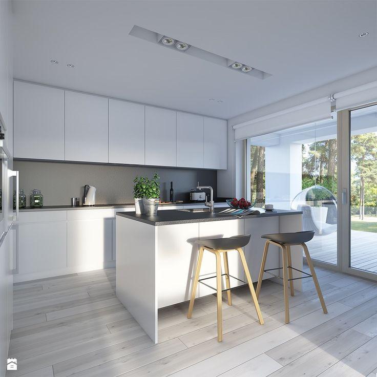 Dostępny 4A - niewielki dom z nowoczesnymi akcentami - zdjęcie od DOMY Z WIZJĄ - nowoczesne projekty domów - Kuchnia - Styl Skandynawski - DOMY Z WIZJĄ - nowoczesne projekty domów