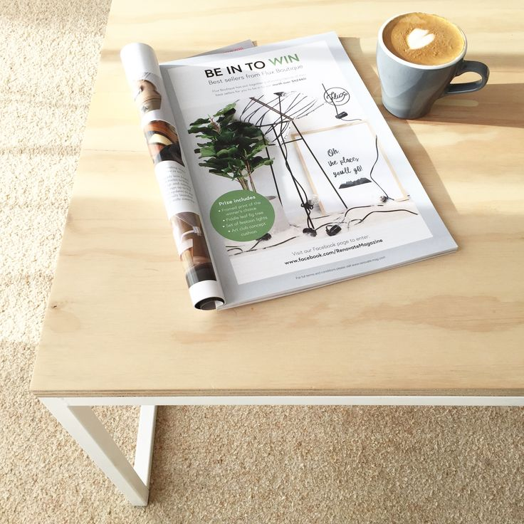 Coffee table made from mild steel plywood top