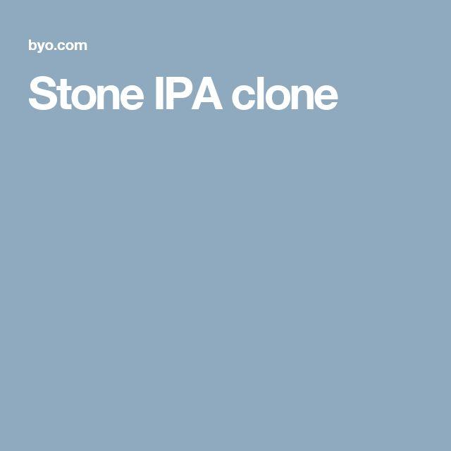 Stone IPA clone