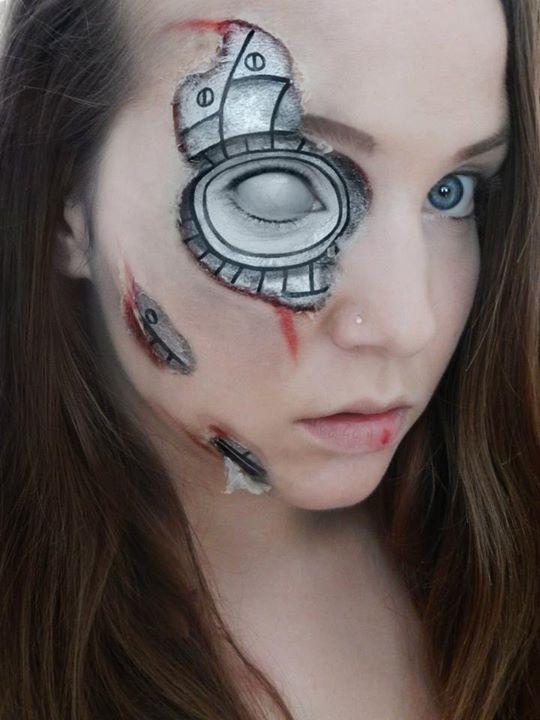 Halloween robot - Makeup Geek