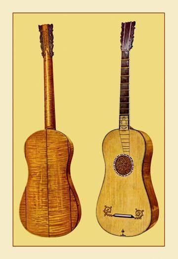 Guitar by Antonius Stradivarius 28x42 Giclee on Canvas