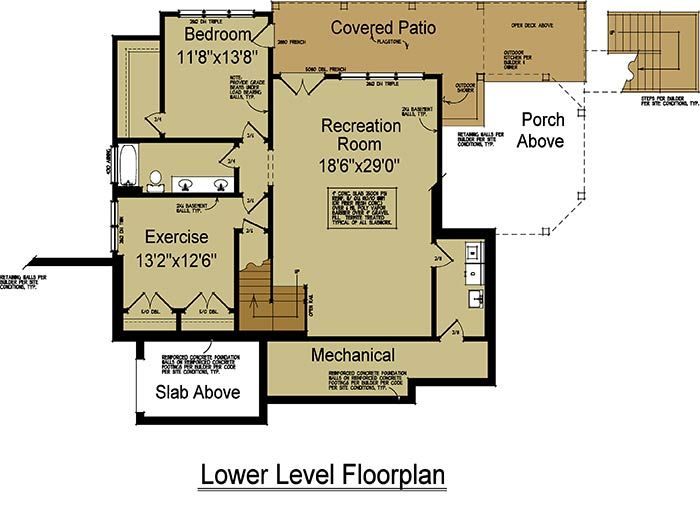 66 best floor plans images on pinterest - Mountain home plans with walkout basement ...