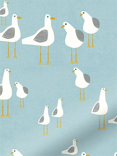 Splash+Gulls+Seaside+Blue+Roller+Blind+from+Blinds+2go More