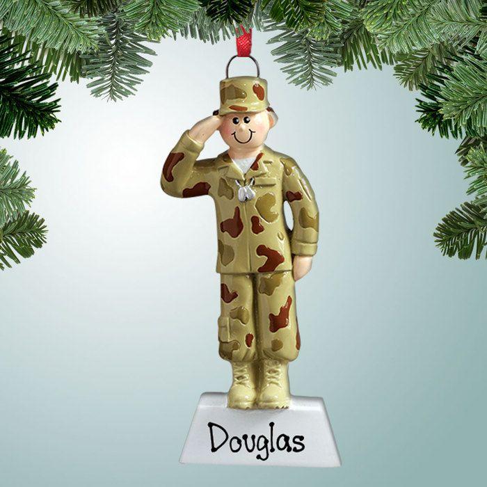 PersonalizedFree.com - Saluting Army Guy Personalized Christmas Ornament, $12.99 (http://personalizedfree.com/saluting-army-guy/)