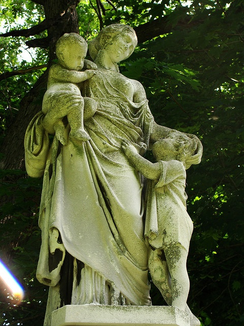 Oakwood Cemetery - Syracuse, NY    Statue on top of the Denison Monument in Oakwood