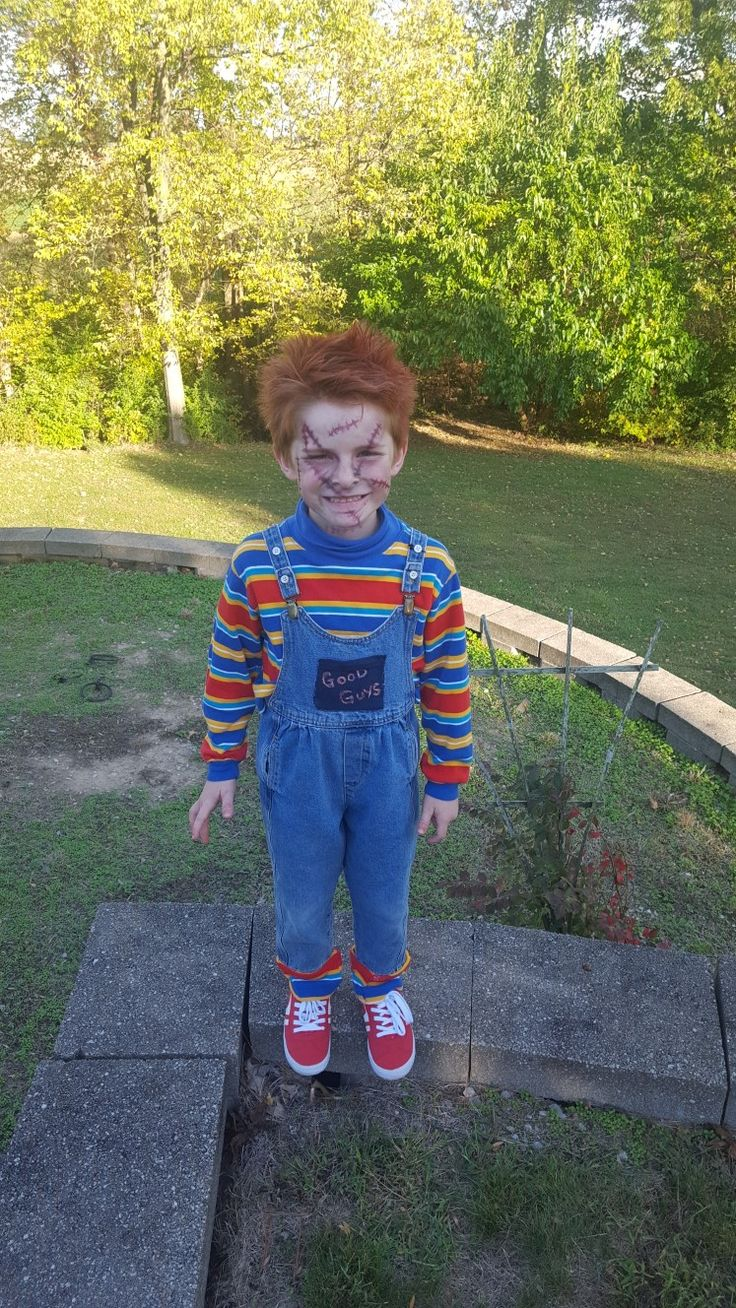 Halloween 2017 chucky doll costume all made at home purchased from thrift stores scary doll
