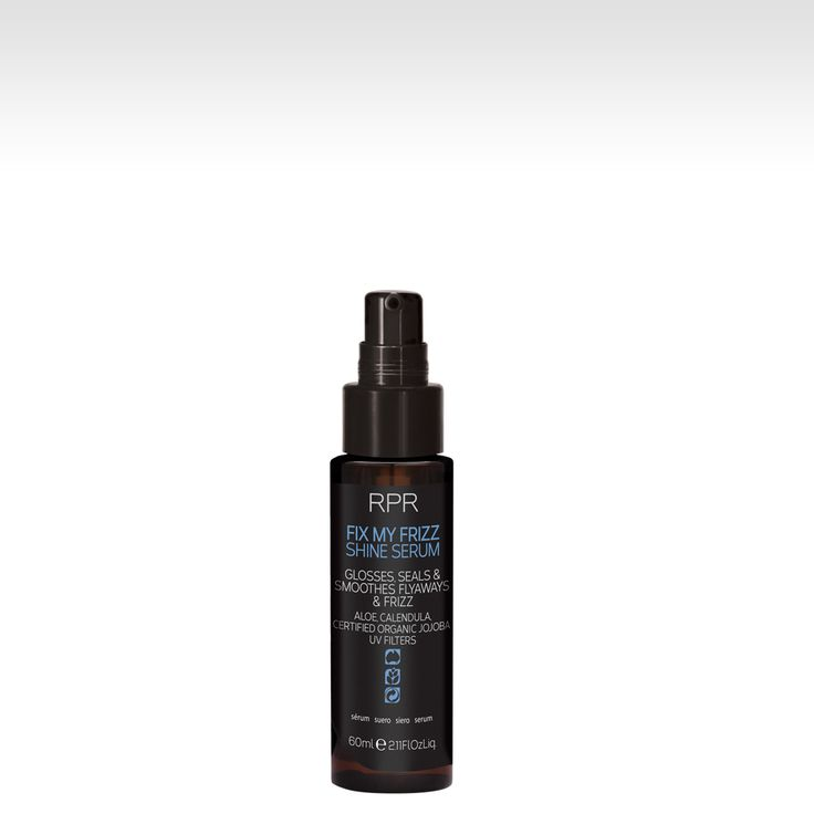 RPR FIX MY FRIZZ SHINE SERUM. Glosses, seals and smoothes fly-aways and frizz. Aloe, Calendula, CertifiedOrganic Jojoba. UV Filters. www.rprhaircare.com.au