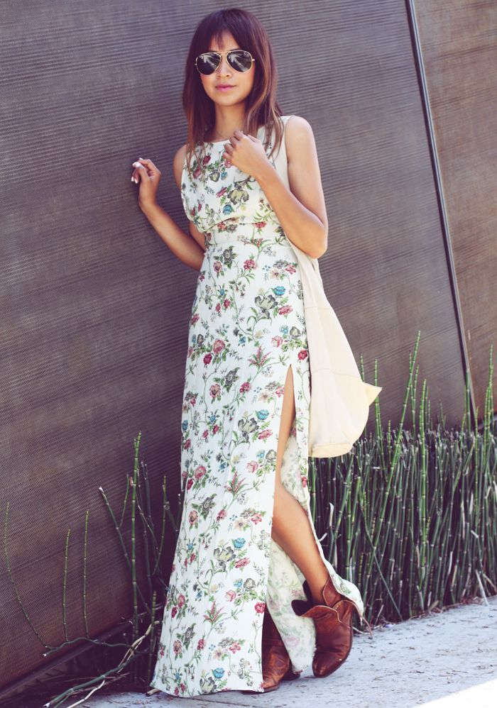boots + dress = perfection!: Flowers Bombs, Summer Fashion, Maxi Dresses, Floral Maxi, Fall Style, Flowers Dresses, Ankle Boots, Sincerely Jules, Floral Dresses