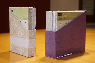 Anleitung für die Aufbewahrung von kleinen Designerpapierblöcken, Stampin Up, Anleitung, praktisches, Aufbewahrung, Storage,