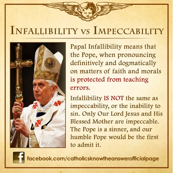 """Understanding """"Papal Infallibility"""":"""