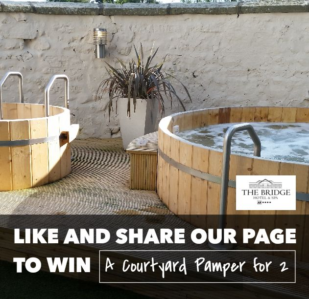 WIN A COURTYARD PAMPER FOR 2 IN OUR COMPETITION! That's full use of our Courtyard Spa facilities, a 30 minute treatment such as a massage, express facial or nail file and polish on either your hands or feet, with a glass of bubbly for TWO people (worth just under £100).  HOW CAN YOU WIN? Just like/share our page https://www.facebook.com/thebridgehotelandspa?ref=hl and when we reach 1,500 followers we will pick a lucky winner at random, it's as simple as that. Good luck and spread the word...